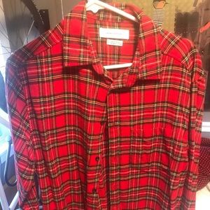 Men's red Flannel men's medium urban outfitter